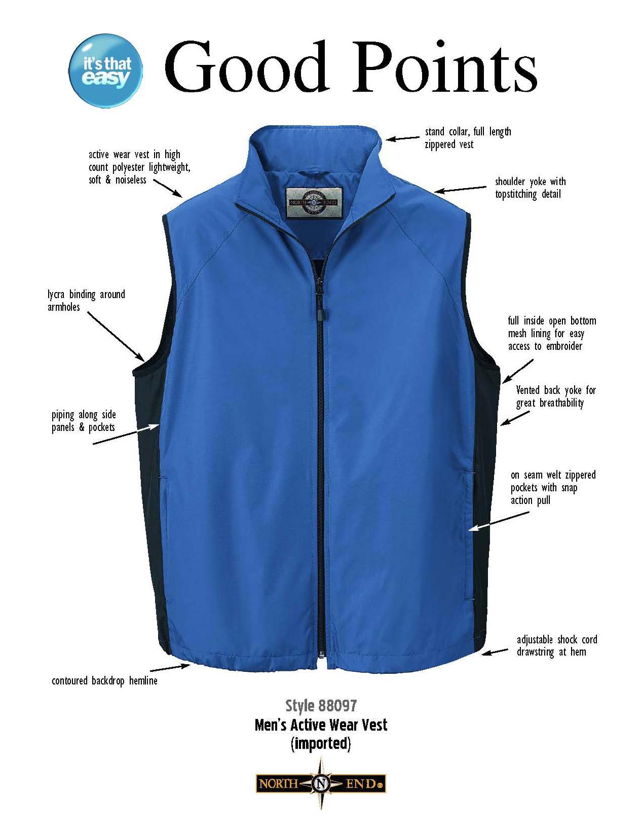 Ash City Techno series 88097 - Men's Active Wear Vest