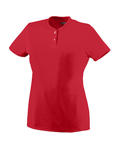 Augusta Drop Ship - 1213 Girls Wicking Two-Button Jersey
