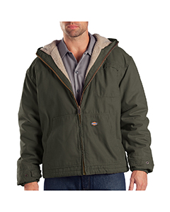 Dickies Drop Ship - TJ350T Sanded Duck Sherpa Lined Hooded Jacket