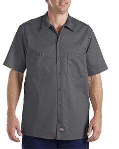 ffc7d325d95 Dickies Drop Ship - LS307 Industrial Short-Sleeve Cotton Work Shirt ...