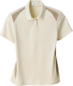 Ash City e.c.o Knits 75054 - Ladies' Recycled polyester Performance Honeycomb Color Block Polo