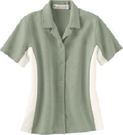 Ash City Performance 77016 - Ladies' Knit Ottoman Color-Block Camp Shirt
