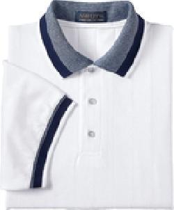 Ash City Pique 225447 - Men's Ribbon Pique Polo With Contrast Trim