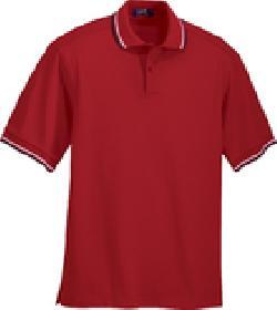 Ash City Pique 225502 - Men's Cotton Stripe Collar Pique Polo