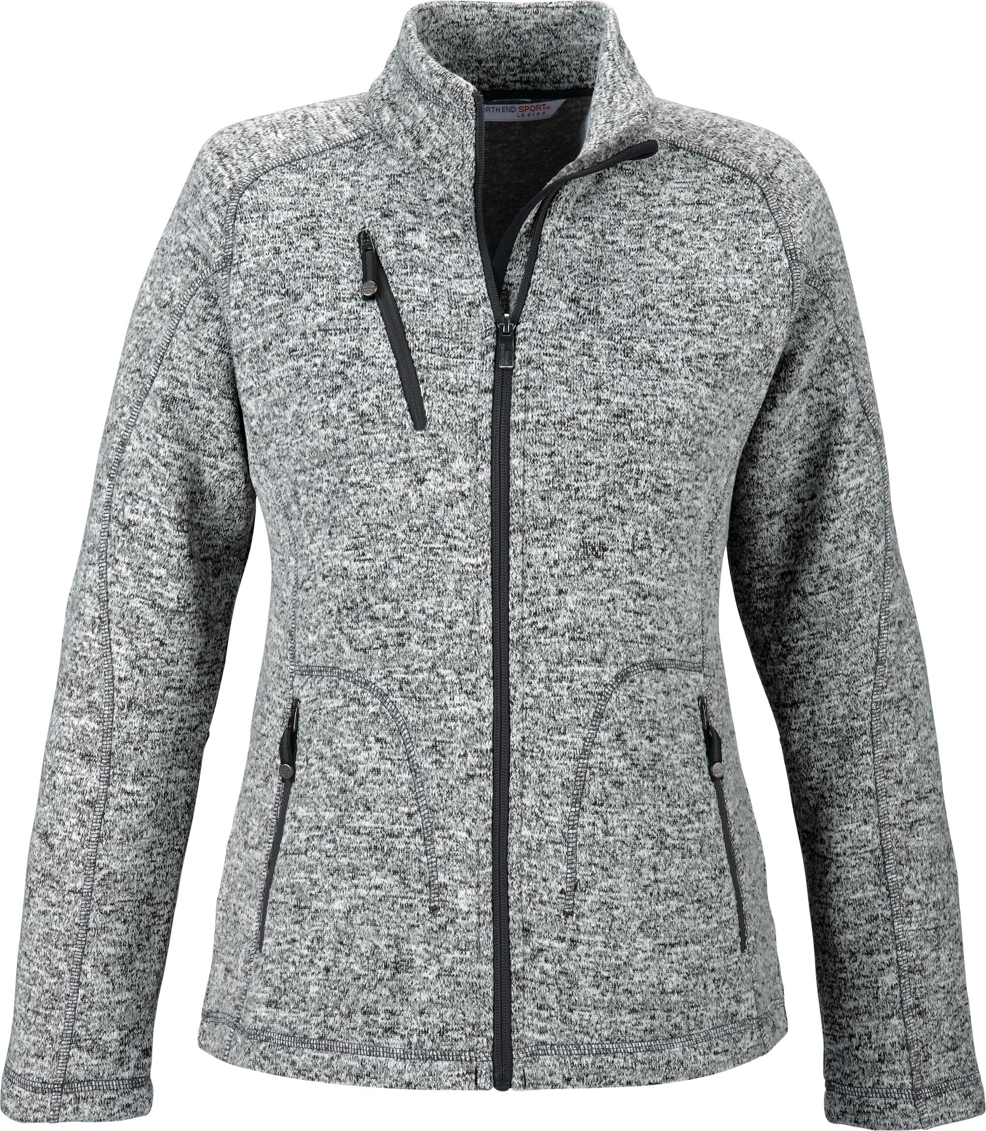 Ash City Poly Fleece 78669 - Peak Ladies' Sweater Fleece Jacket ...