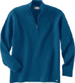 Ash City 81008 男士混纺半拉链长袖羊毛衫