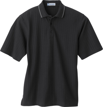 Ash City Textured 85086 - Men's Textured Chevron Polo With Jacquard Welt Collar