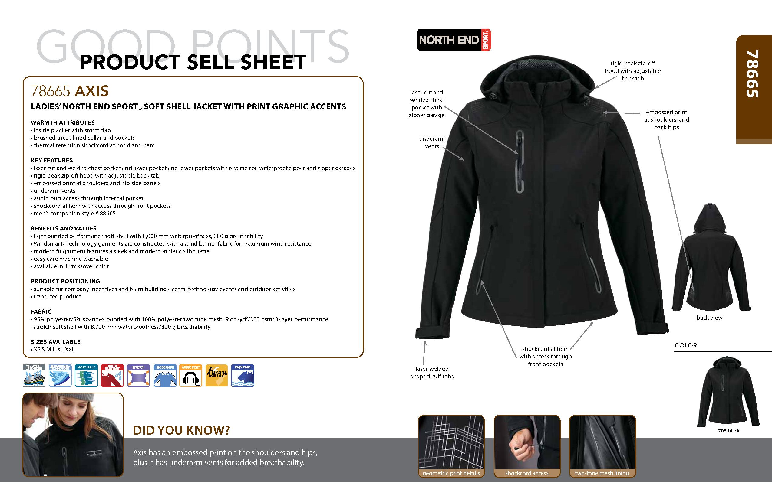 Ash City Light Bonded Jackets 78665 - Axis Ladies' Soft Shell Jacket With Print Graphic Accent