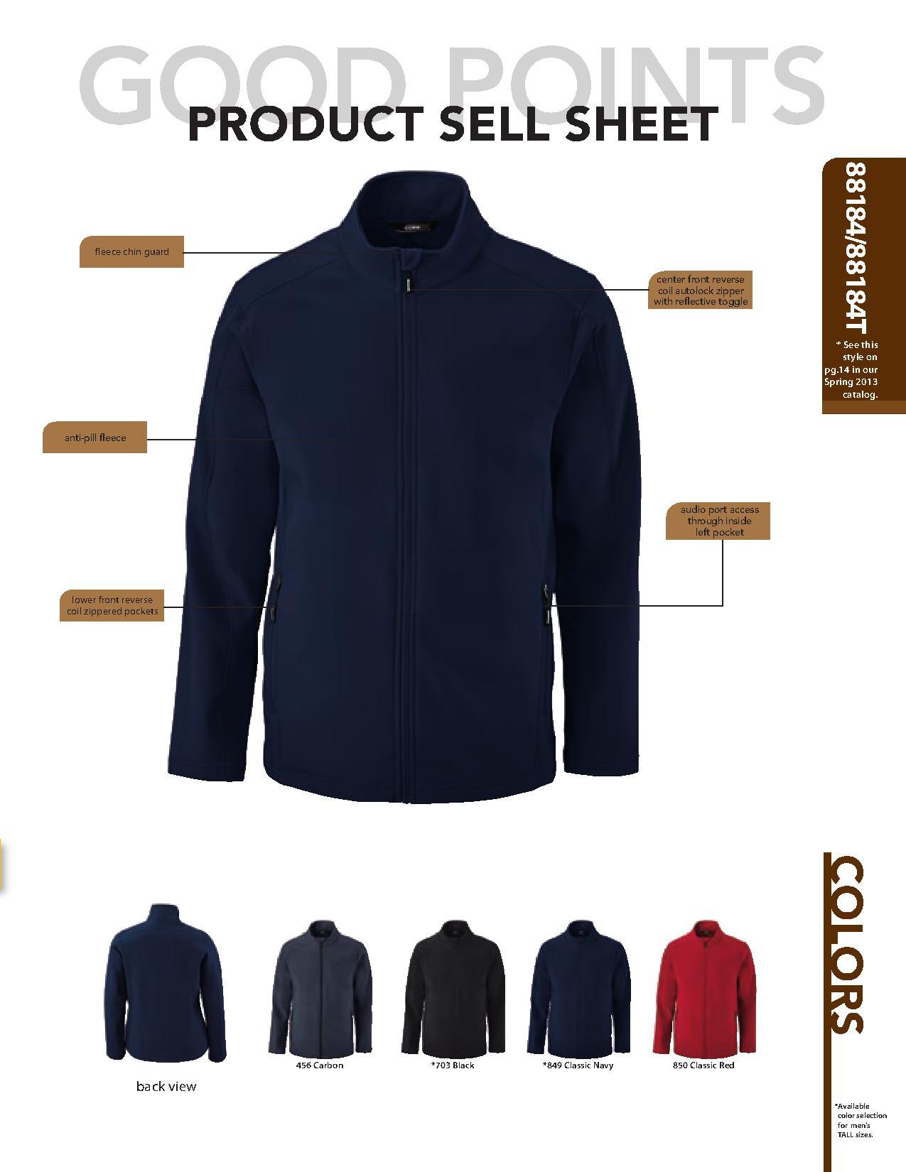 Ash City Core365 88184 - Cruise Core365 Men's 2-Layer Fleece Bonded Soft Shell Jacket