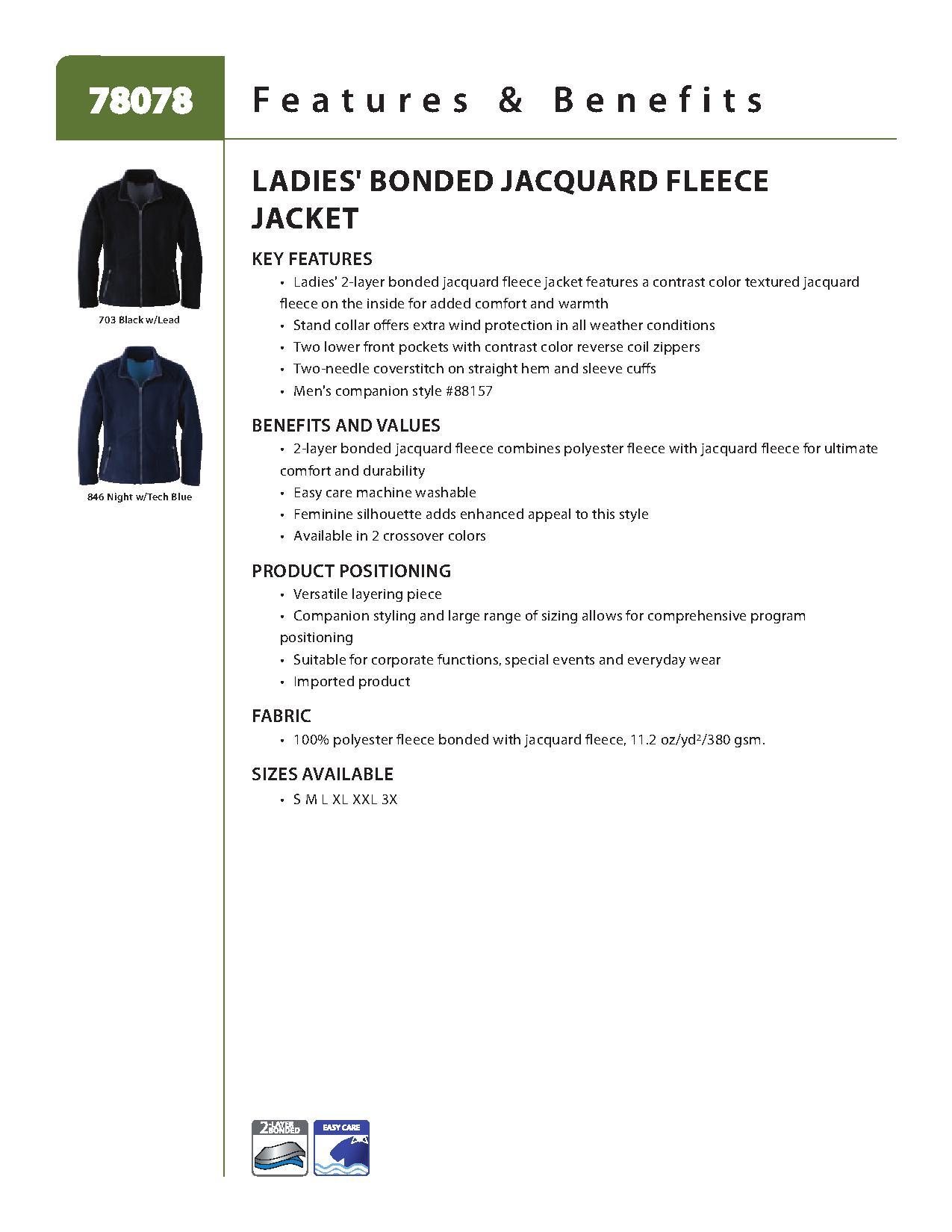 Ash City Bonded Fleece 78078 - Ladies' Bonded Jacquard Fleece Jacket