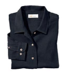 Ash City Cotton 77003 - Ladies' Diamond Dobby Long Sleeve ...