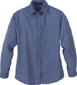 86bcfa747e Ash City Denim 78004 - Ladies  Denim Long Sleeve Shirt
