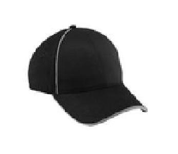 Ash City Lifestyle Performance caps 45019 - Unbrushed Chino Twill Sandwich Cap With Reflective