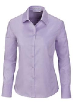 Ash City Wrinkle Free 78673 - Boulevard Ladies' Wrinkle Free 2-Ply 80's Cotton Dobby Taped Shirt With Oxford Trim
