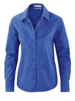 Ash City Wrinkle Free 78674 - Boulevard Ladies' Wrinkle Free 2-Ply 80's Cotton Stripped Taped Shirt