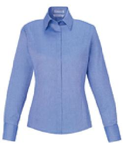 Ash City Wrinkle Free 78689 - Refine Ladies' Blue Wrinkle ...