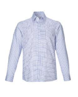 Ash City Wrinkle Free 88688 - Iconic Men's Wrinkle Free 2-Ply 80's Cotton Checkered Dobby Twill Taped Shirt