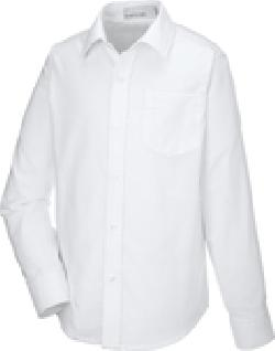 Ash City Wrinkle Resistant 67038 - Windsor Youth Long Sleeve Oxford Shirt