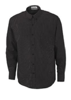 Ash City Wrinkle Resistant 87040 - Echelon Men's Wrinkle Resist Cotton Blend Houndstooth Taped Shirt