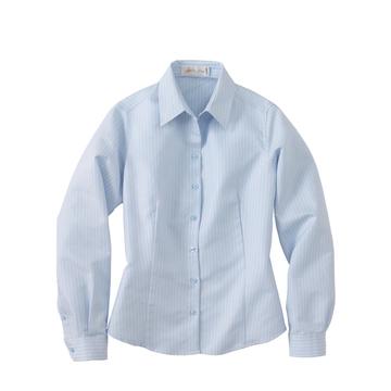 Ash City Easy care 77012 - Ladies' Wrinkle Resistant Yarn-Dyed Stripe Long Sleeve Shirt