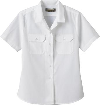 Ash City Uniform Shirts 77702 - Ladies' Soil Release Short Sleeve Broadcloth Shirt