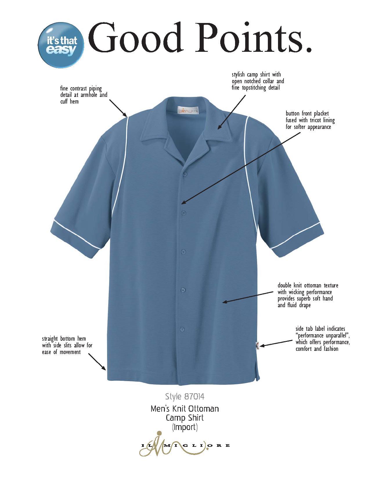 Ash City Performance 87014 - Men's Knit Ottoman Camp Shirt