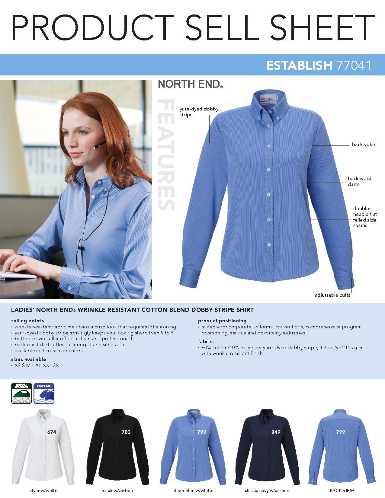 Ash city wrinkle free 77041 establish north end wrinkle for How do wrinkle free shirts work