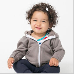 American Apparel F097 Infant Flex Fleece Zip Hood