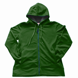 Dodger 53800 Women's Dri Poly Fleece Full Zip Hood