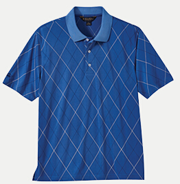 Brooks Brothers BR2102 Printed Argyle Pique Polo