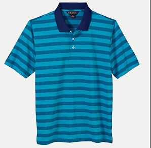 Brooks Brothers BR2111 Varigated Stripe Jersey Polo