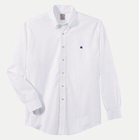 Brooks Brothers BR5084 346 Men's Oxford Sport Shirt