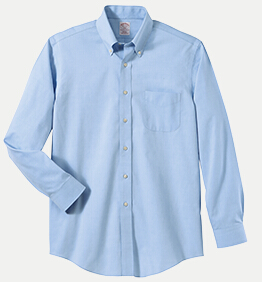 Brooks brothers br621035 346 regular fit no iron pinpoint for Mens no iron dress shirts