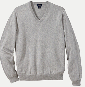 Brooks Brothers BR8431 346 Cotton V-neck Sweater