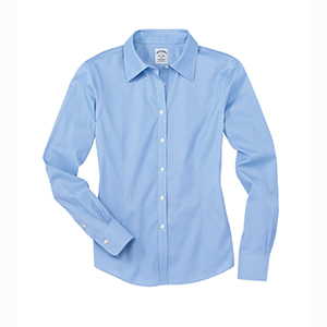 Brooks Brothers WV400 Women's Non-Iron Pinpoint Cotton ...