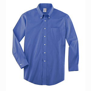 Brooks Brothers WV533 Men's Non-Iron Pinpoint Cotton ...