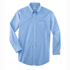 Brooks Brothers WV535 Men's Non-Iron Pinpoint Cotton ...