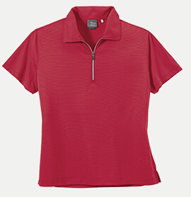Page & Tuttle 39159 Women's Tri-Tone Stripe Jersey Polo