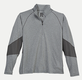 Page & Tuttle P14F11 Men's Cool Swing Quarter-Zip Contrast ...