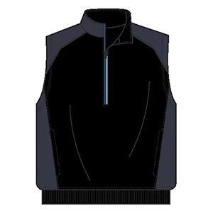 Page & Tuttle P1695 Men's 1/2 Zip Interlock Tech Vest