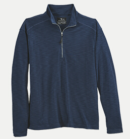 Page & Tuttle P92049 Men's Quarter Zip Melange Interlock