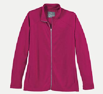 Page & Tuttle P92259 Women's Full Zip Melange Interlock