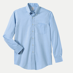 Brooks brothers br620933 346 slim fit no iron pinpoint for No iron slim fit dress shirts