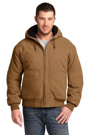 CornerStone CSJ41 Washed Duck Cloth Insulated Hooded Work Jacket