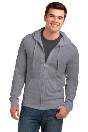 District DT1100 Young Mens Lightweight Jersey Full-Zip ...