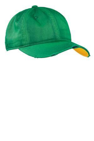 District DT615磨白做旧破洞棒球帽鸭舌帽