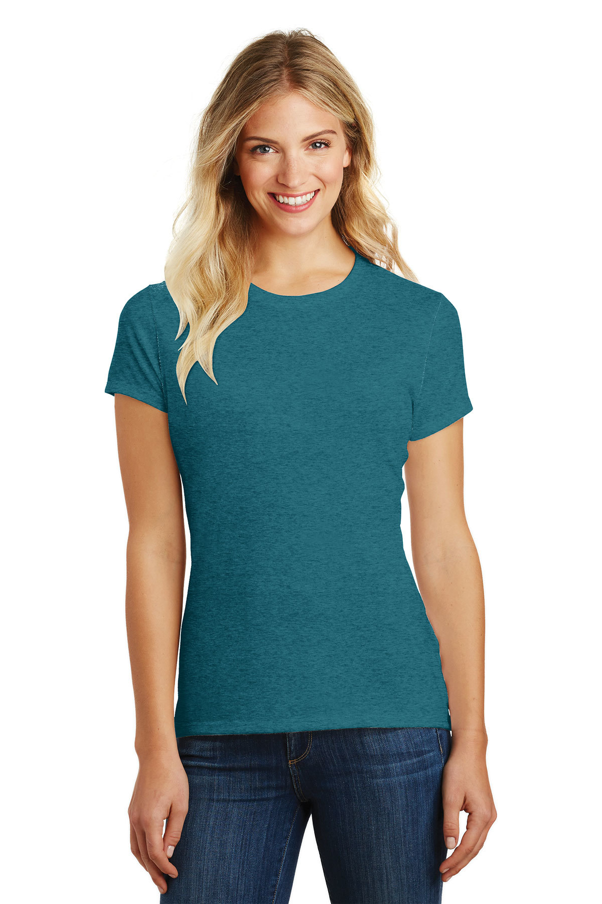 District Made DM108L Ladies Perfect Blend Crew Tee