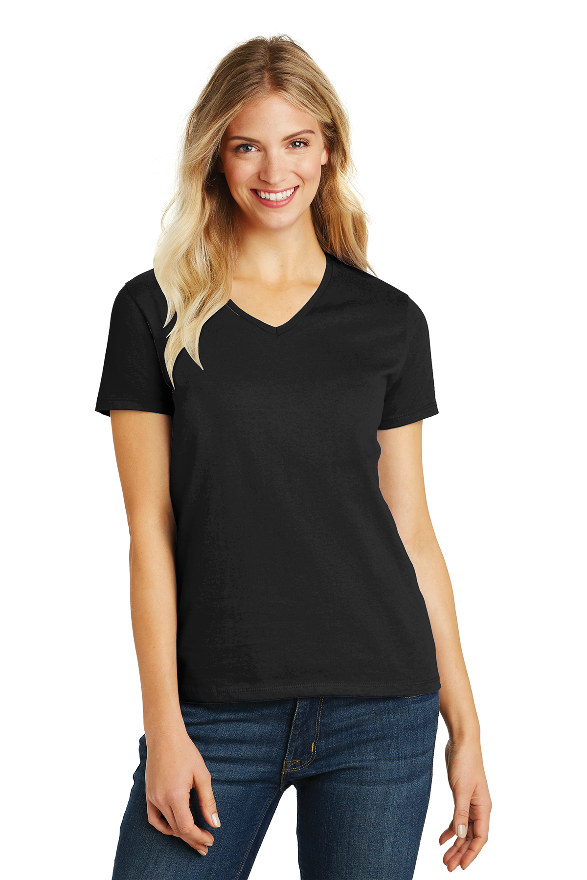 District Made DM1190L Ladies Perfect Blend V-Neck Tee