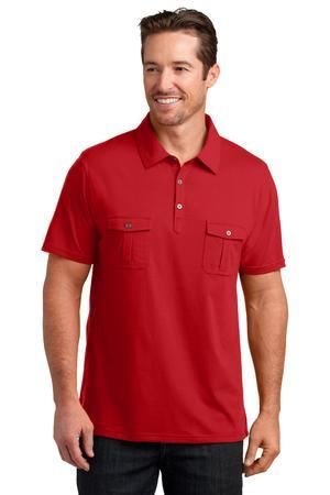 District Made™ DM333 Mens Jersey Double Pocket Polo