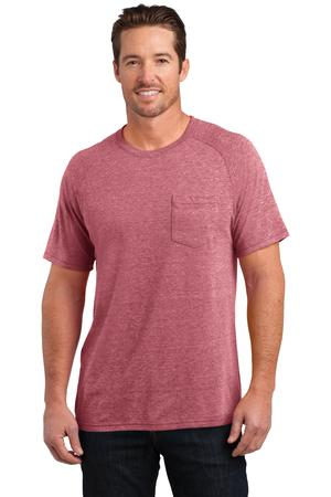 District Made DM340 Mens Tri-Blend Pocket Tee